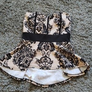 [Chocolate] strapless top